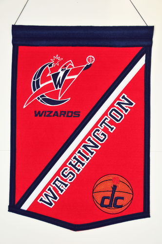 "Washington Wizards Wool 18"" x 12"" Traditions Banner"