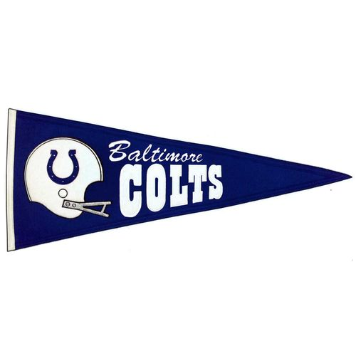 "Baltimore Colts Wool 32"" x 13"" Traditions Pennant"