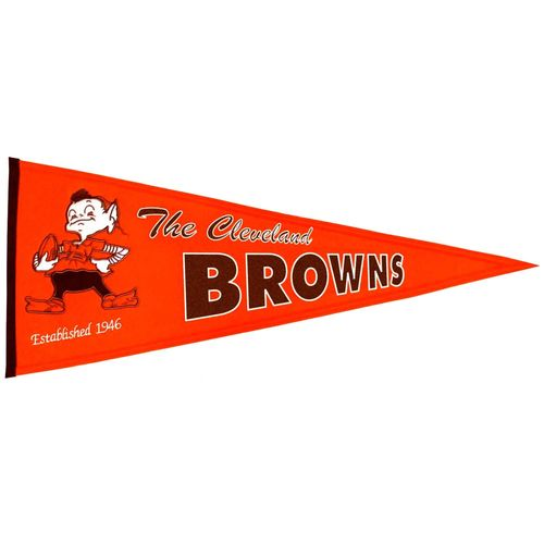 "Cleveland Browns Wool 32"" x 13"" Traditions Pennant"