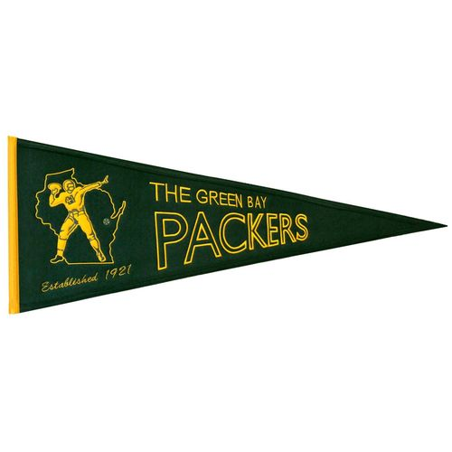 "Green Bay Packers Wool 32"" x 13"" Traditions Pennant"