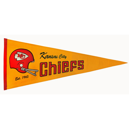 "Kansas City Chiefs  Wool 32"" x 13"" Traditions Pennant"
