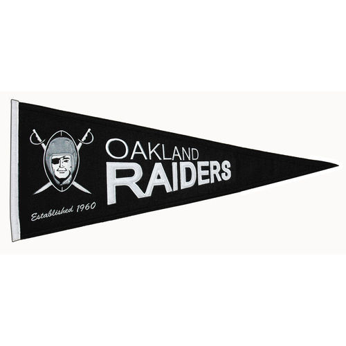 "Oakland Raiders Wool 32"" x 13"" Traditions Pennant"