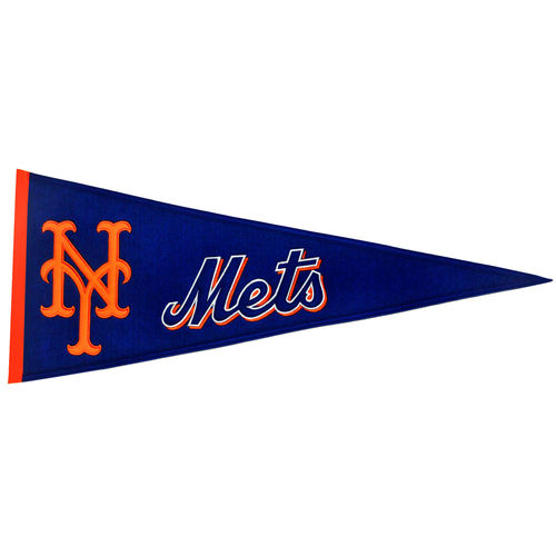 "New York Mets Wool 32"" x 13"" Traditions Pennant"