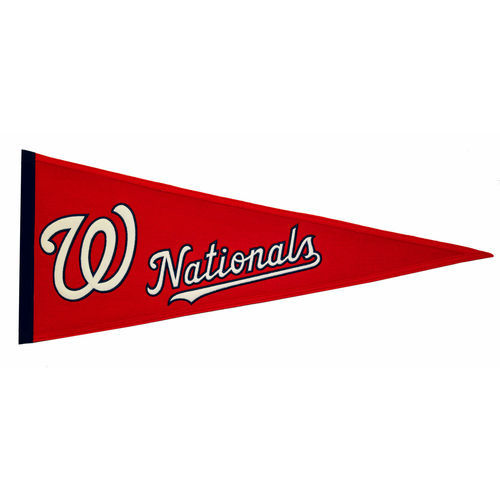 "Washington Nationals Wool 32"" x 13"" Traditions Pennant"
