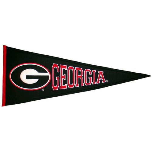 "Georgia Bulldogs Wool 32"" x 13"" Traditions Pennant"