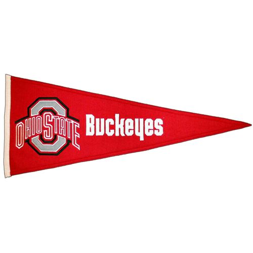 "Ohio State Buckeyes Wool 32"" x 13"" Traditions Pennant"