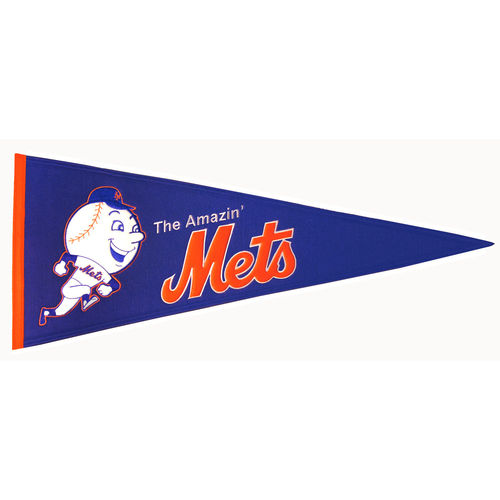 "New York Mets Wool 13"" x 32"" Cooperstown Throwback Pennant"