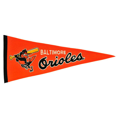 "Baltimore Orioles Wool 13"" x 32"" Cooperstown Throwback Pennant"