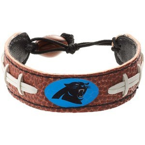 Carolina Panthers Game Day Leather  Bracelet