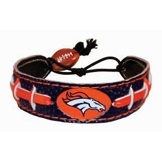 Denver Broncos Game Day Leather Bracelet