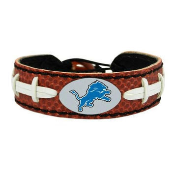Detroit Lions Game Day Leather Bracelet