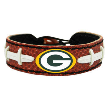 Green Bay Packers Game Day Leather Bracelet