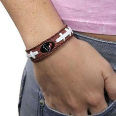 Houston Texans Game Day Leather Bracelet