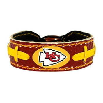 Kansas City Chiefs Game Day Leather Bracelet