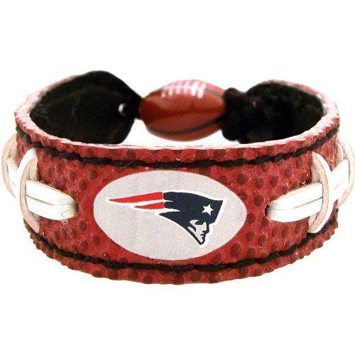 New England Patriots Game Day Leather Bracelet