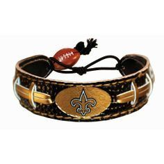 New Orleans Saints Game Day Leather Bracelet