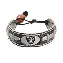 Oakland Raiders Game Day Leather Bracelet