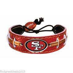 San Francisco 49ers Game Day Leather Bracelets