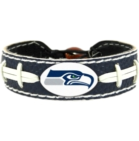 Seattle Seahawks Game Day Leather Bracelet