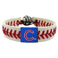 Chicago Cubs Game Day Leather Bracelet
