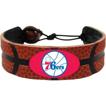 Philadelphia 76ers Game Day Leather Bracelet