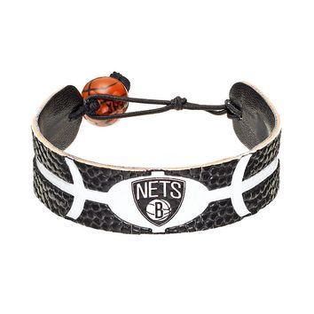 Brooklyn Nets Game Day Leather Bracelet
