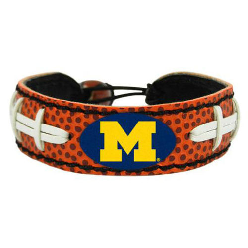 Michigan Game Day Leather Bracelet
