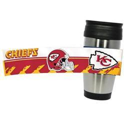 Kansas City Chiefs PVC Stainless Steel Travel Mug