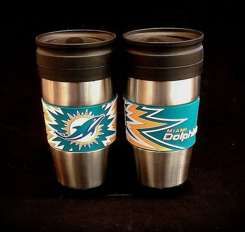 Miami Dolphins PVC Stainless Steel Travel Mug