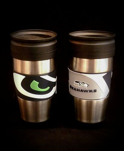 Seattle Seahawks PVC Stainless Steel Travel Mug