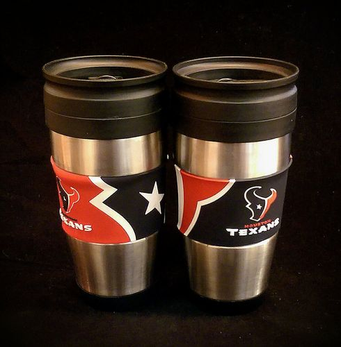 Houstan Texans PVC Stainless Steel Travel Mug