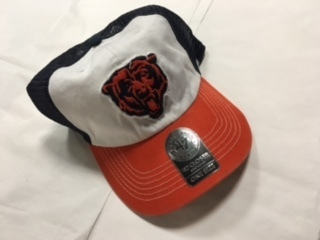 Chicago Bears White Stretch Fit 47 Brand Hat
