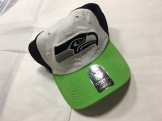 Seattle Seahawks White Stretch Fit 47 Brand Hat