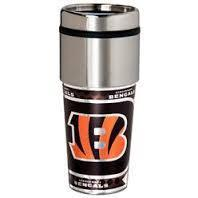 Cincinatti Bengals Stainless Steel Travel Mug