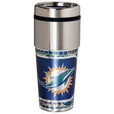Miami Dolphins Stainless Steel Travel Mug