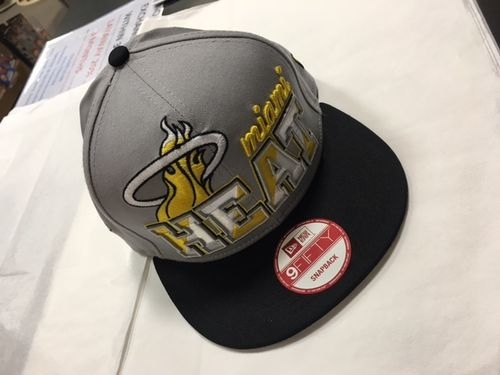 Miami Heat Grey/Neon Yellow Snapback