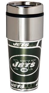 New York Jets Stainless Steel Travel Mug
