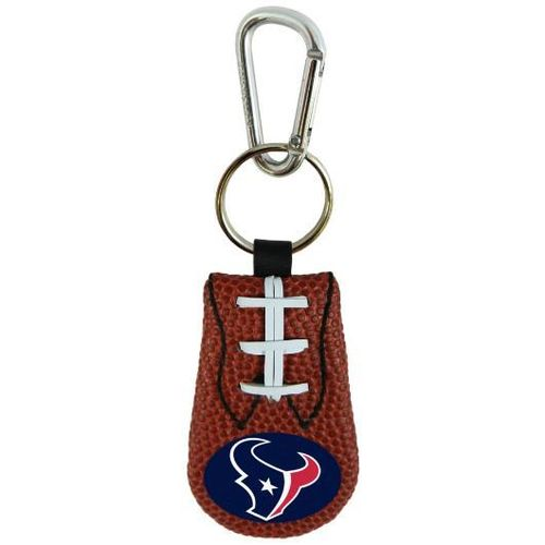 TEXANS GENUINE NFL FOOTBALL KEYCHAIN