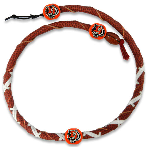 Cincinnati Bengals  Classic NFL Spiral Football Necklace