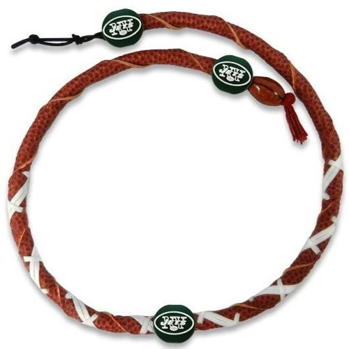 New York Jets Classic NFL Spiral Football Necklace