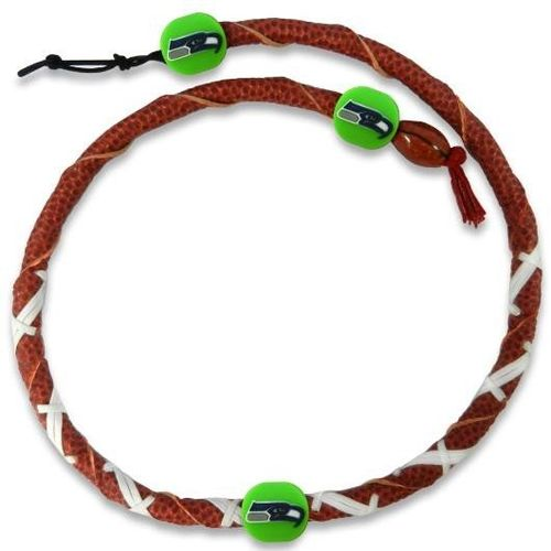 Seattle Seahawks Classic NFL Spiral Football Necklace