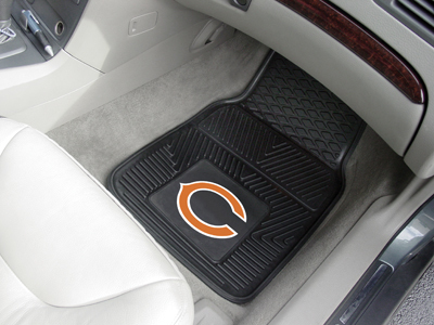 Chicago Bears NFL Heavy Duty 2-Piece Vinyl Car Mats