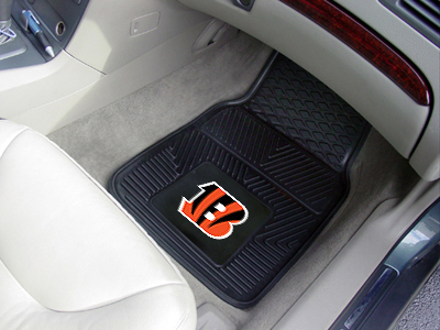 Cincinnati Bengals NFL Heavy Duty 2-Piece Vinyl Car Mats
