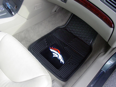 Denver Broncos NFL Heavy Duty 2-Piece Vinyl Car Mats