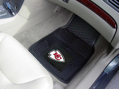 Kansas City Chiefs NFL Heavy Duty 2-Piece Vinyl Car Mats