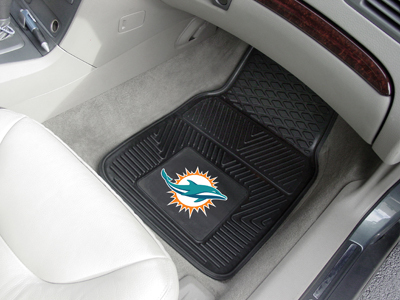 Miami Dolphins NFL Heavy Duty 2-Piece Vinyl Car Mats