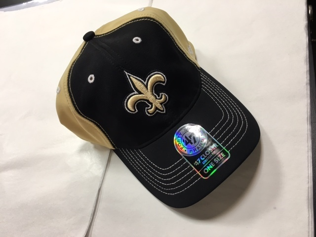 7fafe3d8b8ccc New Orleans Saints Stretch Fit 47 Brand Hat