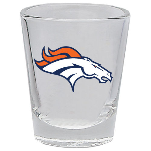 DENVER BRONCOS 2OZ. BOTTOMS UP COLLECTOR GLASS