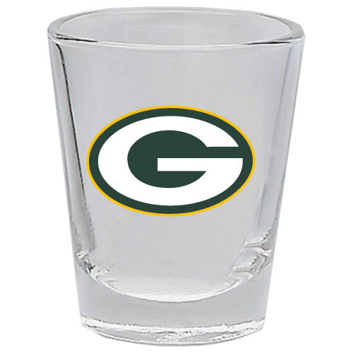 GREEN BAY PACKERS 2OZ. BOTTOMS UP COLLECTOR GLASS