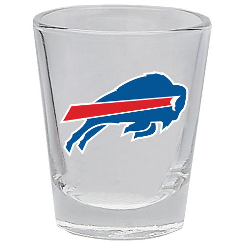 BUFFALO BILLS 2OZ. BOTTOMS UP COLLECTOR GLASS